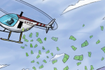 Деньги с вертолёта: концепция раздачи